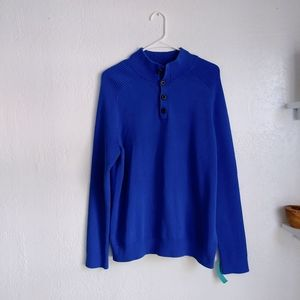 EXPRESS RORAL BLUE DRESSY SWEATER SIZE LARGE